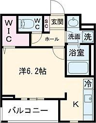 JR山手線 巣鴨駅 徒歩6分の賃貸マンション 1階ワンルームの間取り