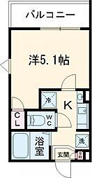 JR山手線 池袋駅 徒歩10分の賃貸アパート 2階1Kの間取り