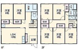 上菅田ハウス 1階7LDKの間取り
