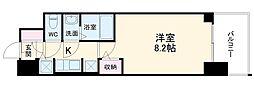 S-RESIDENCE黒川 12階1Kの間取り
