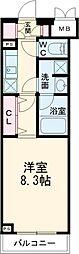 東急世田谷線 上町駅 徒歩7分の賃貸マンション 1階1Kの間取り