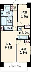東京メトロ日比谷線 南千住駅 徒歩9分の賃貸マンション 11階2LDKの間取り