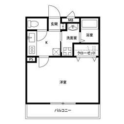 名鉄三河線 三河高浜駅 徒歩11分の賃貸アパート 2階1Kの間取り