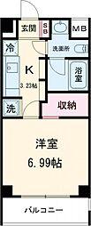 JR中央線 武蔵小金井駅 徒歩3分の賃貸マンション 3階1Kの間取り