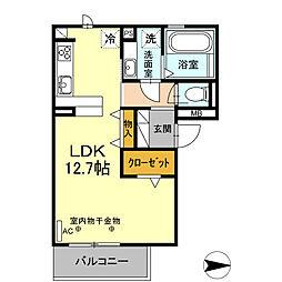 D-room錦 3階ワンルームの間取り