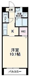 愛知環状鉄道 新豊田駅 3.6kmの賃貸アパート 1階1Kの間取り
