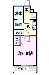 名古屋市営東山線 中村公園駅 徒歩5分の賃貸アパート 1階1Kの間取り