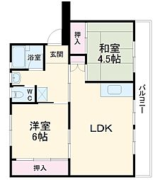 成田スカイアクセス 成田湯川駅 徒歩24分の賃貸マンション 3階3DKの間取り