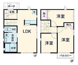 京成本線 公津の杜駅 徒歩8分の賃貸一戸建て 1階3LDKの間取り