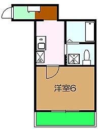 クオリティア橋本 3階1Kの間取り