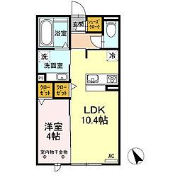 JR東海道本線 東刈谷駅 徒歩5分の賃貸アパート 2階1LDKの間取り