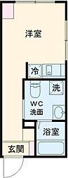 ラフォート板橋本町 3階ワンルームの間取り