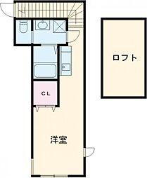 MOVE西葛西 2階ワンルームの間取り