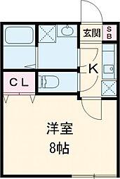 東京メトロ東西線 葛西駅 徒歩13分の賃貸アパート 1階1Kの間取り
