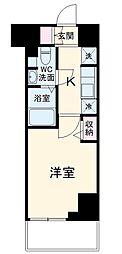 N-stage Misato 2階1Kの間取り