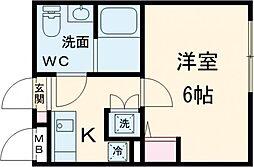 NOZOMIOPREMIER蒲田 2階1Kの間取り
