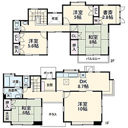JR高崎線 鴻巣駅 徒歩25分の賃貸一戸建て 1階4SLDKの間取り