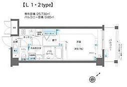AELL蒲田南 2階1Kの間取り