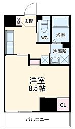 Field Village Hirosumi 5階1Kの間取り