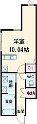 京王線 千歳烏山駅 徒歩5分の賃貸テラスハウス 1階ワンルームの間取り