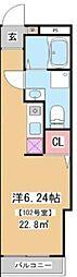 JR山手線 田端駅 徒歩8分の賃貸マンション 5階ワンルームの間取り