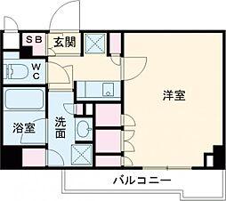 都営大江戸線 練馬駅 徒歩12分の賃貸マンション 1階1Kの間取り