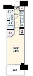 名古屋市営東山線 高畑駅 徒歩3分の賃貸マンション 10階1Kの間取り