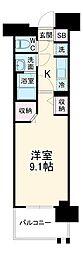 名古屋市営東山線 高畑駅 徒歩3分の賃貸マンション 5階1Kの間取り