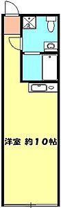 間取り,ワンルーム,面積28.5m2,賃料7.6万円,JR京浜東北・根岸線 大宮駅 徒歩7分,埼玉新都市交通 鉄道博物館(大成)駅 徒歩13分,埼玉県さいたま市大宮区桜木町3丁目