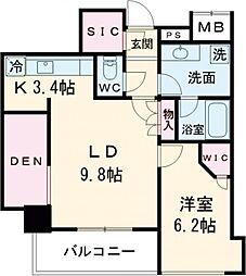 JR山手線 目黒駅 徒歩7分の賃貸マンション 4階1SLDKの間取り