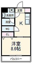 JR東海道本線 東静岡駅 バス10分 本覚寺入口下車 徒歩1分の賃貸マンション 3階1DKの間取り