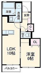 JR京浜東北・根岸線 さいたま新都心駅 徒歩36分の賃貸アパート 1階1LDKの間取り
