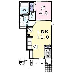 アクティーフ南大泉 1階1LDKの間取り