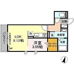 仮)-room松鴻町C棟 3階1LDKの間取り