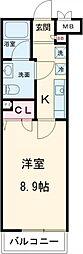 RELUXIA世田谷用賀 3階1Kの間取り