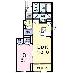 京成本線 京成成田駅 バス28分 太産工業前下車 徒歩7分の賃貸アパート 1階1LDKの間取り