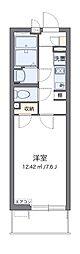 JR東海道本線 平塚駅 徒歩9分の賃貸マンション 3階1Kの間取り