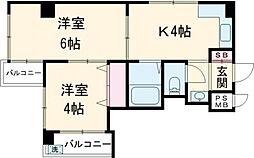 JR山手線 大塚駅 徒歩5分の賃貸マンション 11階2Kの間取り