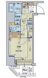 JR山手線 五反田駅 徒歩7分の賃貸マンション 6階1Kの間取り