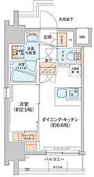 アジールコート新高円寺 3階1DKの間取り