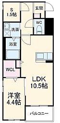 アヴァンセ志免町(仮) 1階1SLDKの間取り