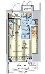 JR山手線 五反田駅 徒歩7分の賃貸マンション 5階1Kの間取り