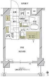 都営浅草線 馬込駅 徒歩6分の賃貸マンション 2階1Kの間取り
