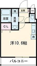 JR横浜線 町田駅 徒歩4分の賃貸アパート 3階ワンルームの間取り