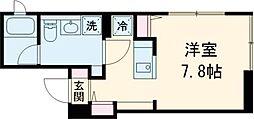 FARE桜新町V 3階ワンルームの間取り