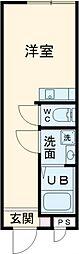 東京メトロ千代田線 北千住駅 徒歩8分の賃貸アパート 1階ワンルームの間取り