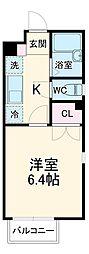 阪急京都本線 桂駅 徒歩7分の賃貸アパート 2階1Kの間取り
