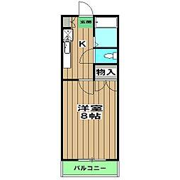 阪急京都本線 桂駅 徒歩5分の賃貸マンション 4階1Kの間取り