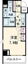 JR山手線 巣鴨駅 徒歩5分の賃貸マンション 8階1Kの間取り