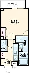 東京メトロ南北線 王子神谷駅 徒歩8分の賃貸マンション 5階1Kの間取り